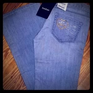 Bebe NWT Jeans with Rhinestones
